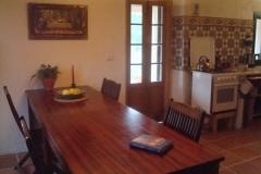 grote tafel deel keuken lichter
